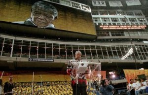 Nelson Mandela at the Skydome